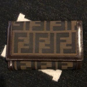 FENDI Pre-owned Zucca Pattern Trifold Wallet